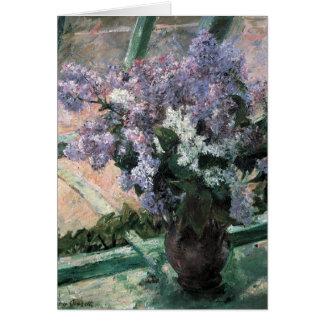 La bella arte de Maria Cassat florece la tarjeta d