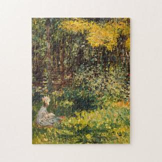 La bella arte de Monet del jardín (detalle) Puzzle Con Fotos
