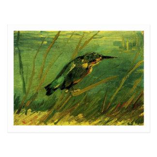 La bella arte de Van Gogh del martín pescador Postales