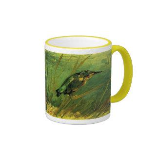 La bella arte de Van Gogh del martín pescador Taza De Dos Colores