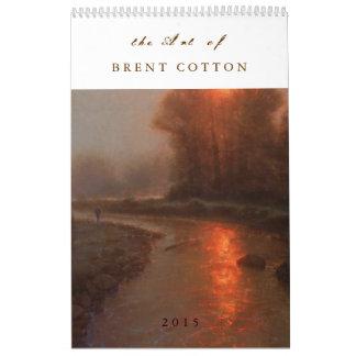La bella arte del ALGODÓN 2015 de BRENT Calendario De Pared