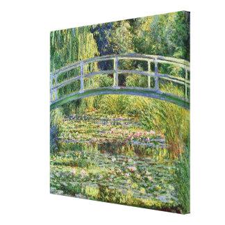 La bella arte japonesa de Claude Monet del puente