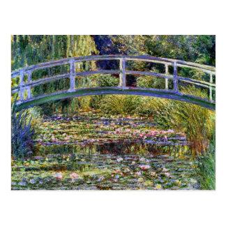 La bella arte japonesa de Claude Monet del puente Postal