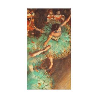 La bella arte verde del ballet de Edgar Degas del Impresión En Lona