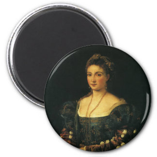 La Bella, Duchess of Urbino by Titian Magnet