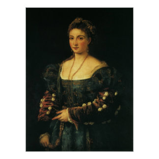 La Bella, Duchess of Urbino by Titian Poster