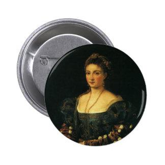 La Bella, duquesa de Urbino por Titian Chapa Redonda 5 Cm