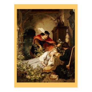 La bella durmiente de príncipe Leans Toward