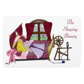 La bella durmiente iman de vinilo