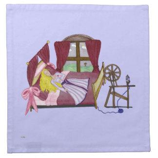 La bella durmiente servilleta de papel