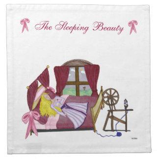 La bella durmiente servilleta imprimida