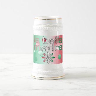 La Bella Madre Italy Flag Colors Pop Art Mugs