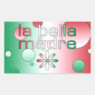 La Bella Madre Italy Flag Colors Pop Art Rectangular Sticker