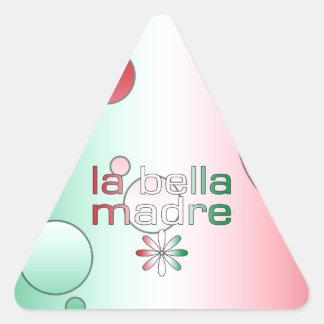 La Bella Madre Italy Flag Colors Pop Art Triangle Sticker