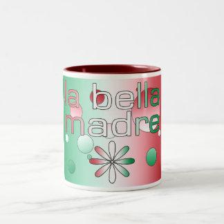 La Bella Madre Italy Flag Colors Pop Art Two-Tone Coffee Mug