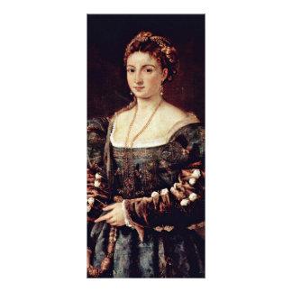 """La Bella (retrato de una señora Isabel D'Este y Folleto Publicitario 4"""" X 9"""""""
