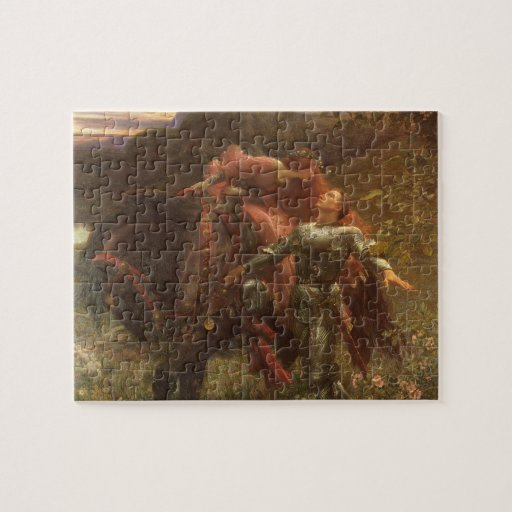 La Belle Dame sans Merci by Sir Frank Dicksee Jigsaw Puzzles