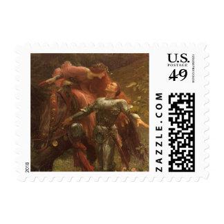 La Belle Dame sans Merci by Sir Frank Dicksee Postage Stamp