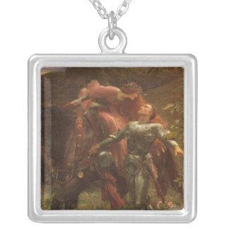 La Belle Dame sans Merci by Sir Frank Dicksee Square Pendant Necklace