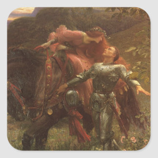 La Belle Dame sans Merci by Sir Frank Dicksee Square Sticker