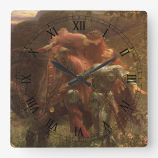 La Belle Dame sans Merci by Sir Frank Dicksee Square Wall Clock
