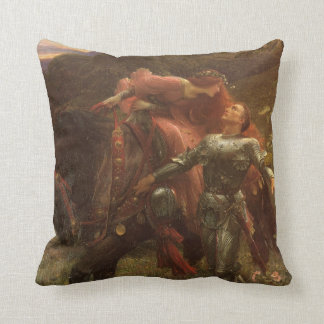La Belle Dame sans Merci by Sir Frank Dicksee Throw Pillow