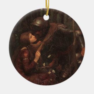 La Belle Dame Sans Merci Ceramic Ornament