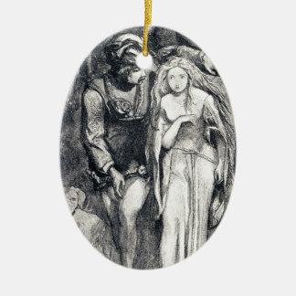 La Belle Dame sans Merci Dante Gabriel Rossetti Ceramic Ornament