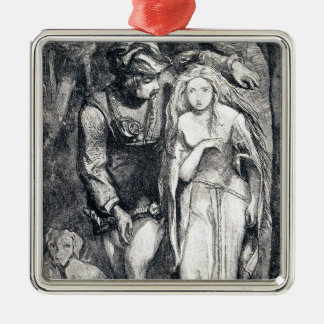 La Belle Dame sans Merci Dante Gabriel Rossetti Metal Ornament