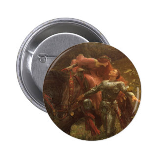 La Belle Dame sans Merci, Dicksee, Victorian Art Pinback Button