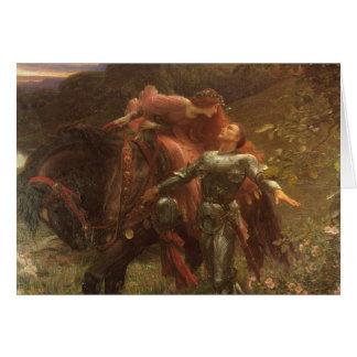 La Belle Dame sans Merci, Dicksee, Victorian Art Greeting Cards
