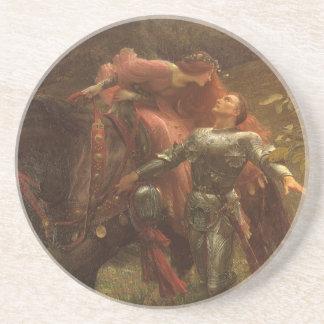 La Belle Dame sans Merci, Dicksee, Victorian Art Drink Coasters