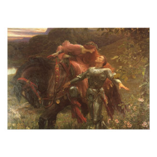 La Belle Dame sans Merci Dicksee Victorian Art Cards