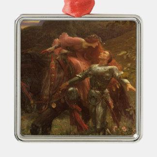 La Belle Dame sans Merci, Dicksee, Victorian Art Christmas Ornament