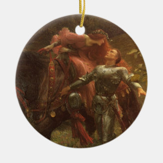 La Belle Dame sans Merci Dicksee Victorian Art Christmas Ornament