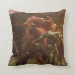 La Belle Dame sans Merci, Dicksee, Victorian Art Throw Pillows