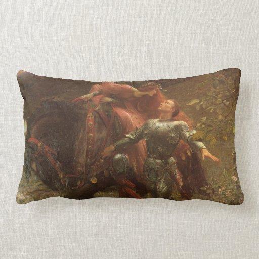 La Belle Dame sans Merci, Dicksee, Victorian Art Pillows