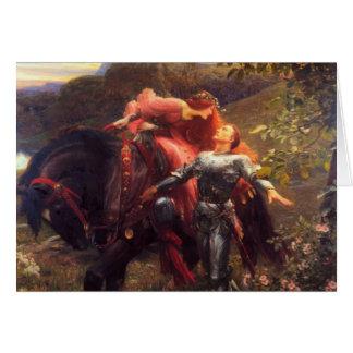La Belle Dame Sans Merci, Frank Dicksee, 1903 Card
