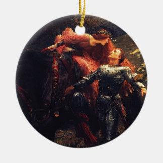 La Belle Dame Sans Merci [Sir Frank Dicksee] Ceramic Ornament