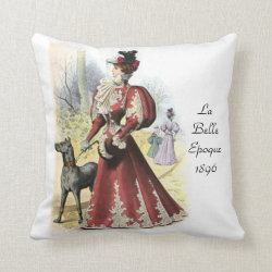La Belle Epoque 1896 Throw Pillow