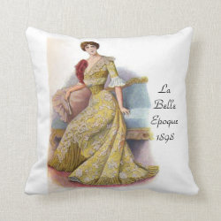 La Belle Epoque 1898 Throw Pillow