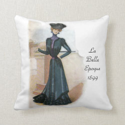 La Belle Epoque 1899 Throw Pillow