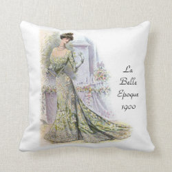 La Belle Epoque 1900 Throw Pillow