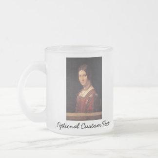 La belle Ferronière Frosted Glass Coffee Mug