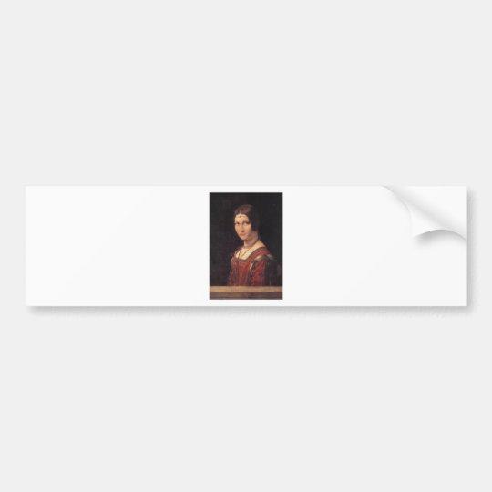 La Belle Ferronniere by Leonardo Da Vinci Bumper Sticker