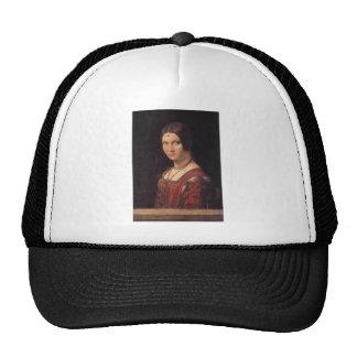 La Belle Ferronniere by Leonardo Da Vinci Trucker Hat