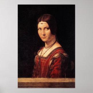 la belle ferronniere, Leonardo da Vinci Poster