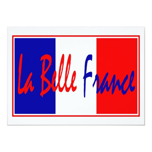La Belle France - French Theme Party Invitation