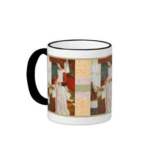 La Belle Iseult  ~  William Morris Ringer Coffee Mug
