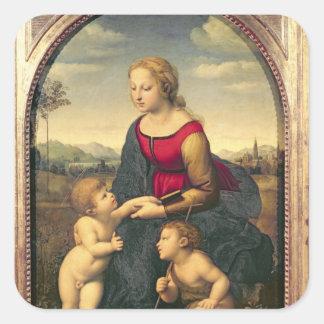 La Belle Jardiniere, 1507 Square Sticker